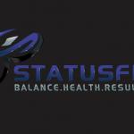 Status Fit Purple on black balance