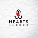 hearts anchor red